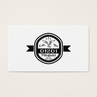 Established In 01201 Pittsfield Business Card