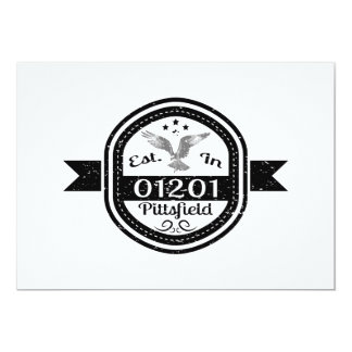 Established In 01201 Pittsfield Card