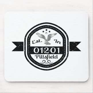 Established In 01201 Pittsfield Mouse Pad