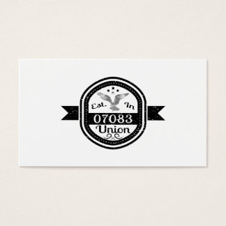 Established In 07083 Union Business Card