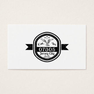 Established In 07305 Jersey City Business Card