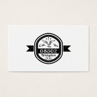 Established In 08302 Bridgeton Business Card