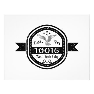 Established In 10016 New York City Flyer