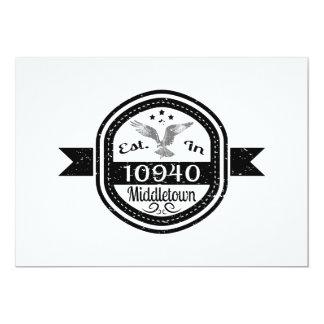 Established In 10940 Middletown Card