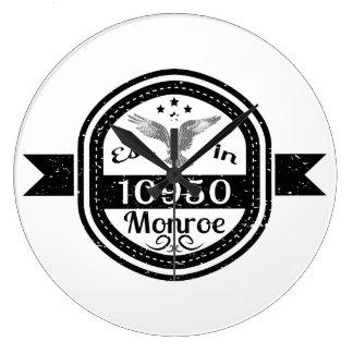 Established In 10950 Monroe Large Clock