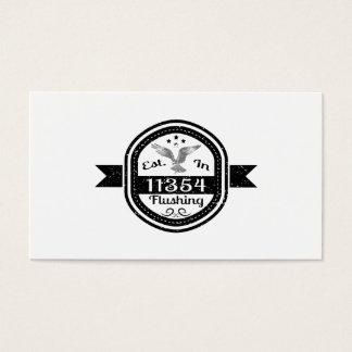 Established In 11354 Flushing Business Card