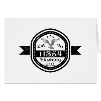 Established In 11354 Flushing Card