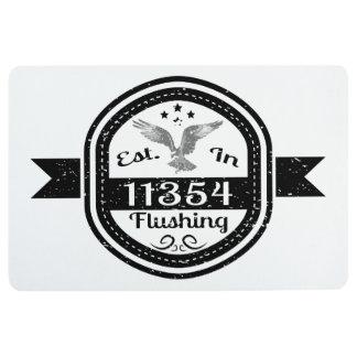 Established In 11354 Flushing Floor Mat