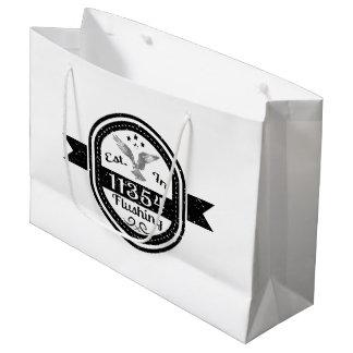 Established In 11354 Flushing Large Gift Bag