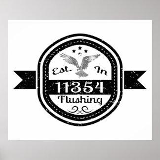 Established In 11354 Flushing Poster