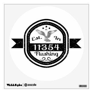 Established In 11354 Flushing Wall Sticker