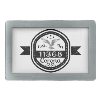 Established In 11368 Corona Belt Buckle