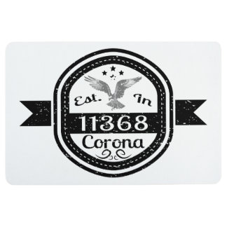 Established In 11368 Corona Floor Mat