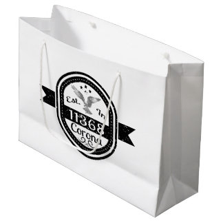Established In 11368 Corona Large Gift Bag