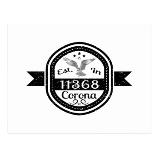 Established In 11368 Corona Postcard