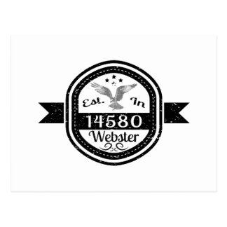 Established In 14580 Webster Postcard