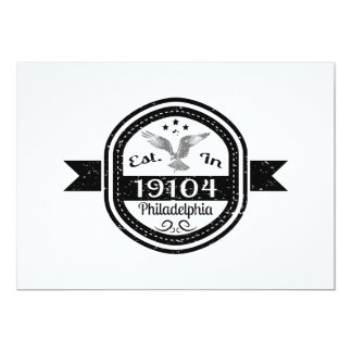 Established In 19104 Philadelphia Card
