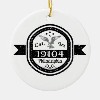 Established In 19104 Philadelphia Ceramic Ornament