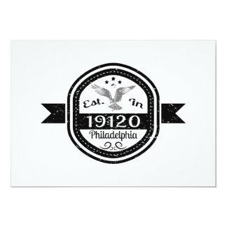 Established In 19120 Philadelphia Card