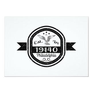 Established In 19140 Philadelphia Card