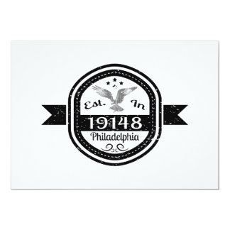 Established In 19148 Philadelphia Card