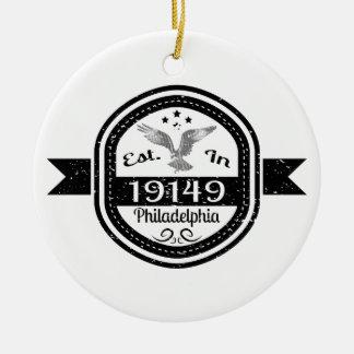 Established In 19149 Philadelphia Ceramic Ornament