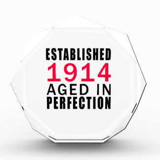 Established In 1914 Aged In Perfection Award