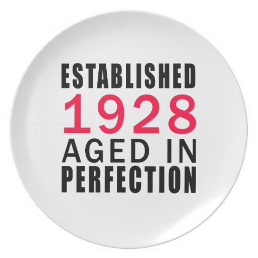 Established In 1928 Aged In Perfection Party Plates