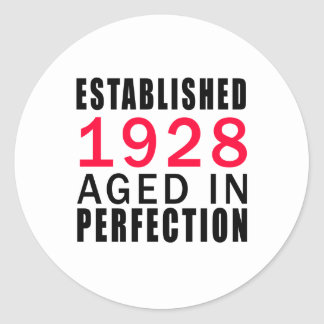 Established In 1928 Aged In Perfection Classic Round Sticker