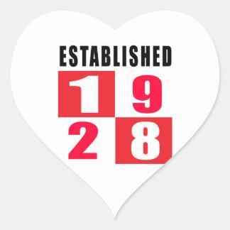 Established in 1928 heart sticker