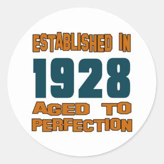 Established In 1928 Classic Round Sticker