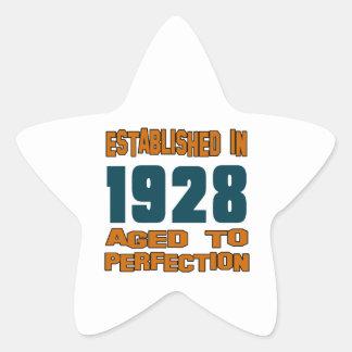 Established In 1928 Star Sticker