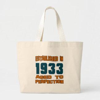 Established In 1933 Jumbo Tote Bag
