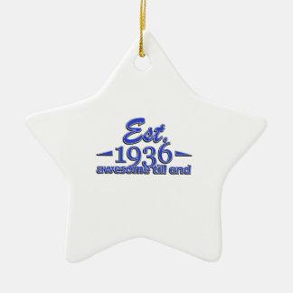 Established in 1936 ceramic ornament