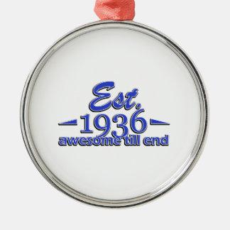 Established in 1936 metal ornament