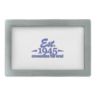 Established in 1941 rectangular belt buckles