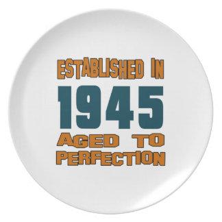 Established In 1945 Plate