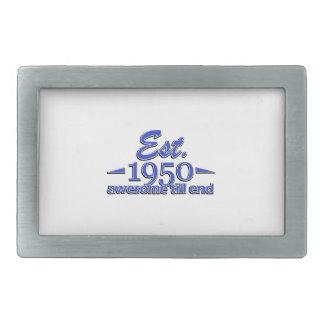 Established in 1950 rectangular belt buckles