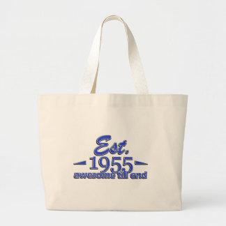 Established in 1955 jumbo tote bag