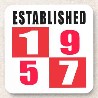 Established in 1957 drink coaster