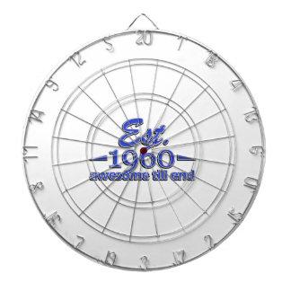 Established in 1960 dartboard with darts