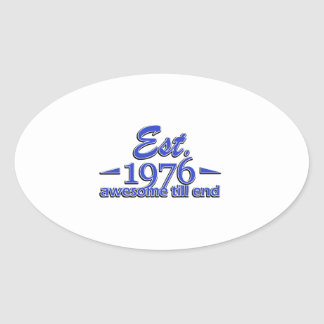 Established in 1976 oval sticker