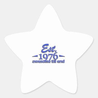 Established in 1976 star sticker