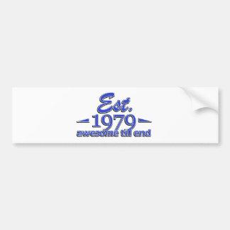 Established in 1979 car bumper sticker