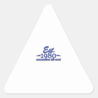 Established in 1980 triangle sticker