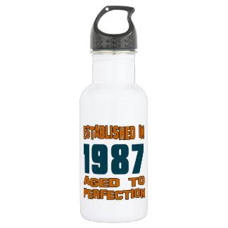 Established In 1987 18oz Water Bottle