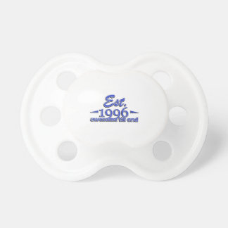Established in 1995 birthday designs BooginHead pacifier