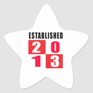 Established in 2013 stickers