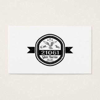 Established In 21061 Glen Burnie Business Card
