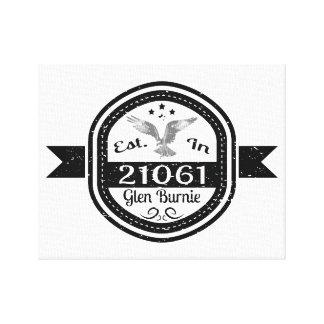 Established In 21061 Glen Burnie Canvas Print